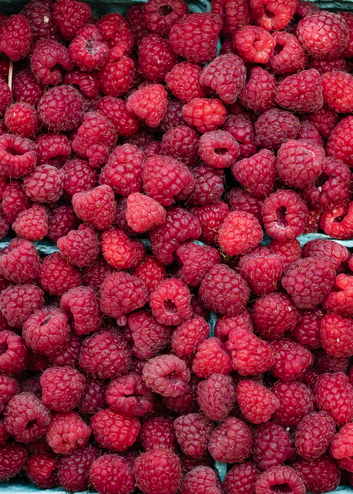 Sweet Cherry Torte with Raspberries via forkknifeswoon.com