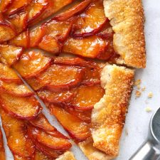 A Summer Peach Galette Fork Knife Swoon