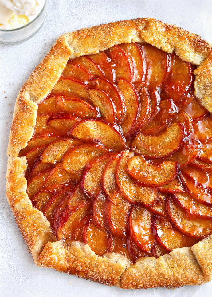 A summer peach galette via forkknifeswoon.com