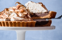 S'mores Tart with Toasted Marshmallow Meringue via forkknifeswoon.com