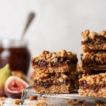 Walnut and Fig Crumble Bars via forkknifeswoon.com