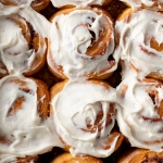 overnight pumpkin cinnamon rolls recipe with maple cream cheese frosting from forkknifeswoon.com