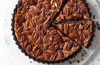 double chocolate pecan pie tart via forkknifeswoon.com