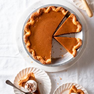 Pumpkin Pie with Toasted Sugar