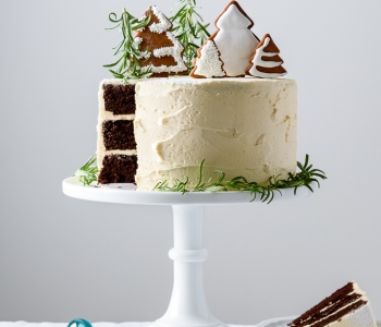 Holiday chocolate spice cake with ginger buttercream via forkknifeswoon.com