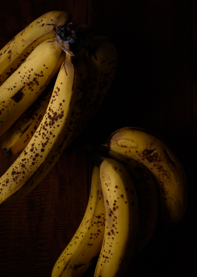 ripe bananas for chocolate banana muffins via forkknifeswoon.com