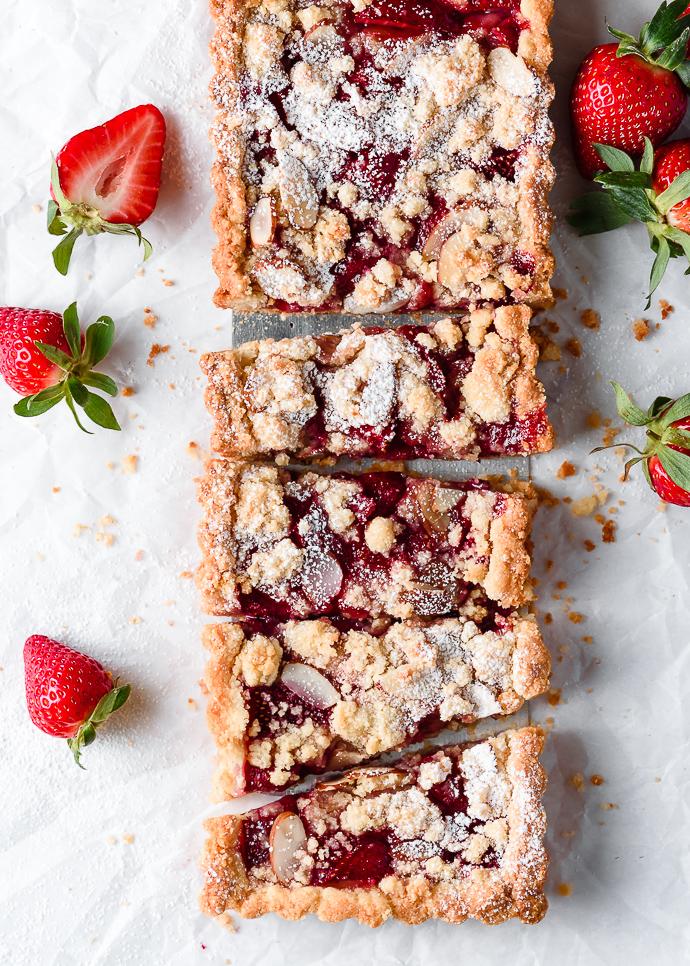 Strawberry Almond Tart (gf) via forkknifeswoon.com