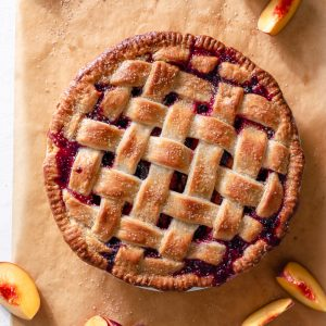 Blueberry Ginger Peach Pie via forkknifeswoon.com