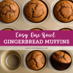 easy one bowl gingerbread muffins recipe from forkknifeswoon.com